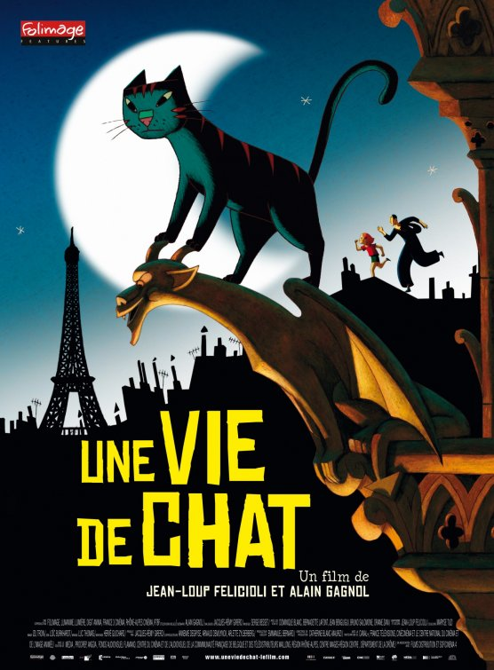 постер Кошачья жизнь,Une vie de chat/A Cat in Paris
