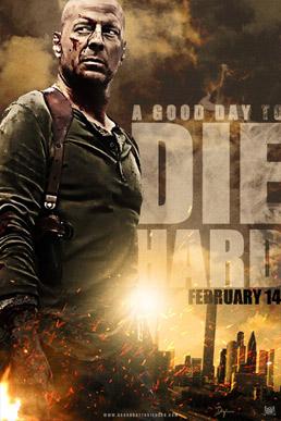 постер Крепкий орешек: Хороший день, чтобы умереть,A Good Day to Die Hard