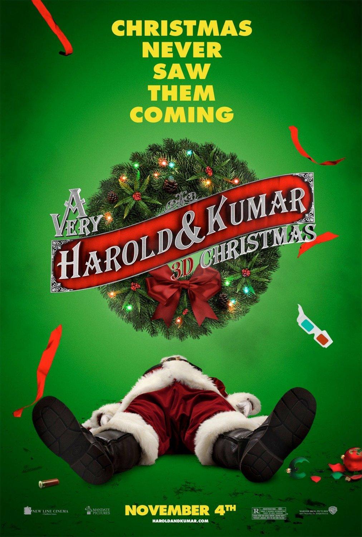 постер Убойное Рождество Гарольда и Кумара,A Very Harold & Kumar 3D Christmas