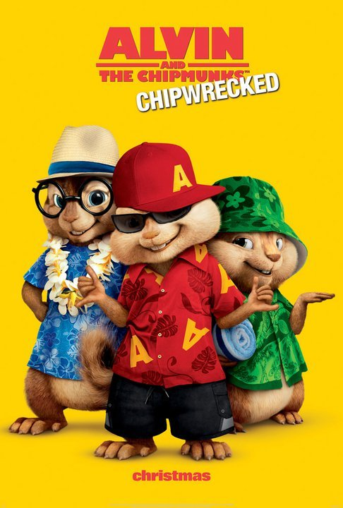 постер Элвин и бурундуки 3D,Alvin and the Chipmunks: Chipwrecked