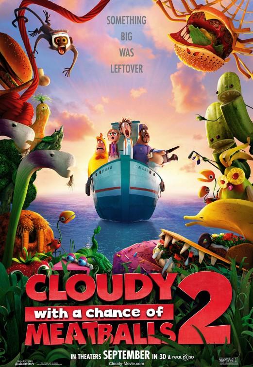 постер Облачно, возможны осадки: Месть ГМО,Cloudy With a Chance of Meatballs 2