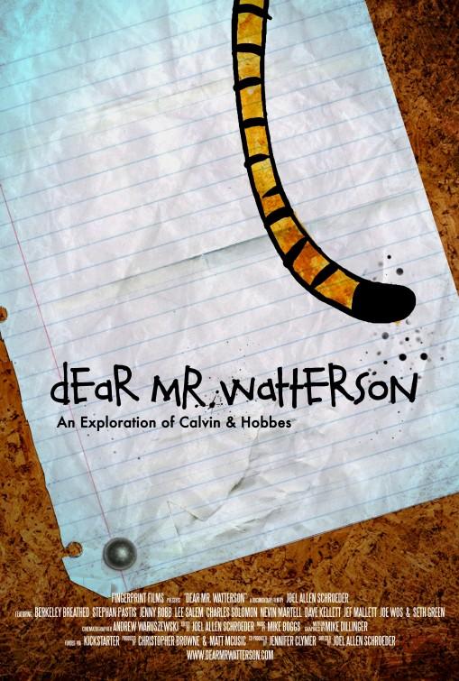 постер Dear Mr. Watterson,Dear Mr. Watterson