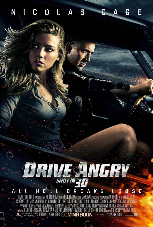 постер Сумасшедшая езда,Drive Angry 3D