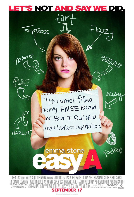 постер Легкомысленная, Easy A