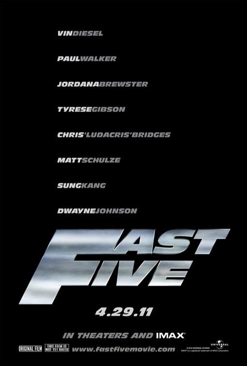 постер Форсаж 5: Быстрая пятерка,Fast Five