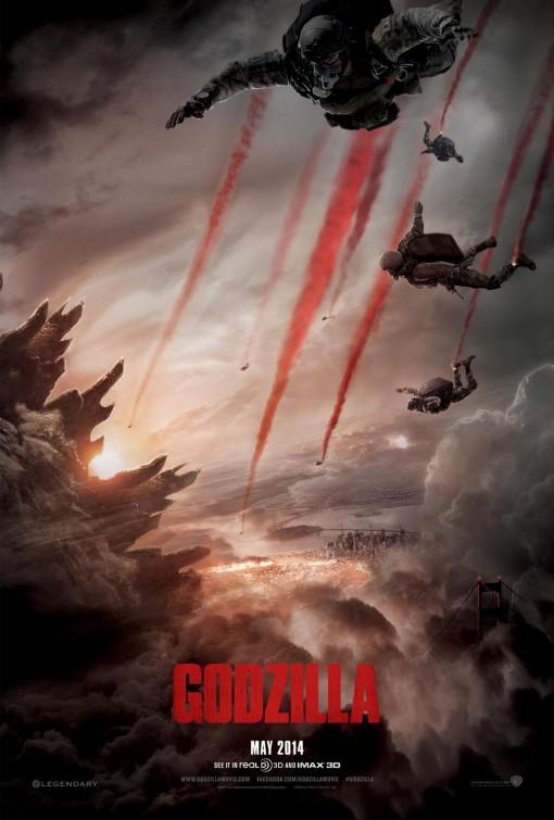 постер Годзилла,Godzilla (2014)