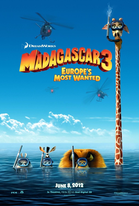 постер Мадагаскар 3,Madagascar 3: Europe's Most Wanted