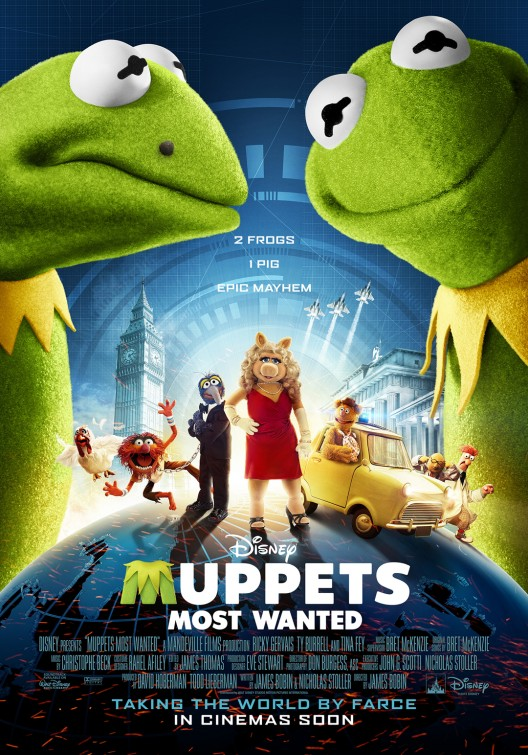постер Маппеты 2,Muppets Most Wanted