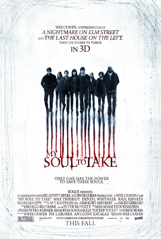 постер Забери мою душу в 3D,My Soul to Take