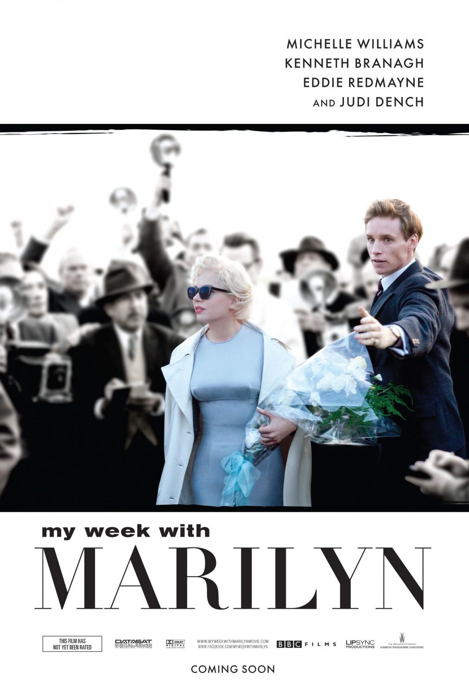 постер 7 дней и ночей с Мэрилин Монро,My Week with Marilyn