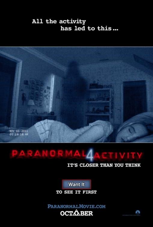 постер Паранормальное явление 4,Paranormal Acitivity 4
