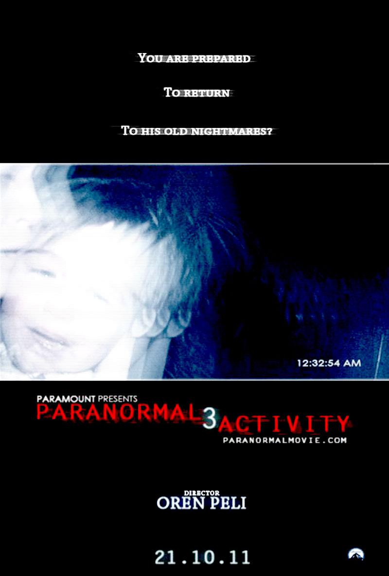 постер Паранормальное явление 3,Paranormal Activity 3