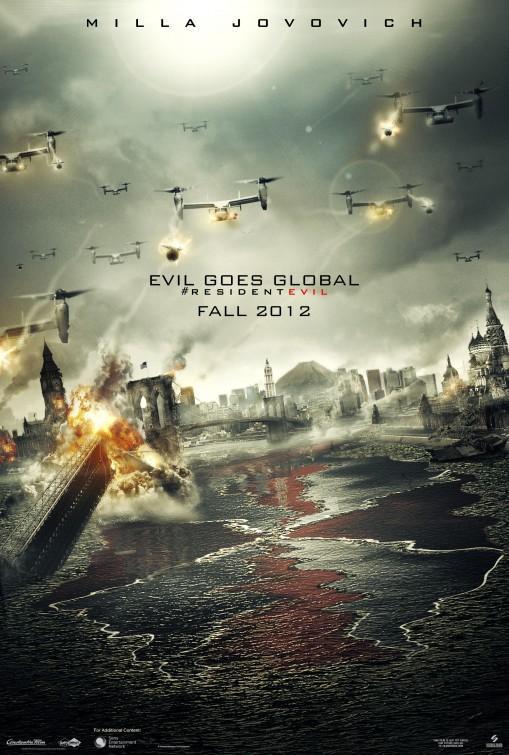 постер Обитель зла 5: Возмездие,Resident Evil: Retribution