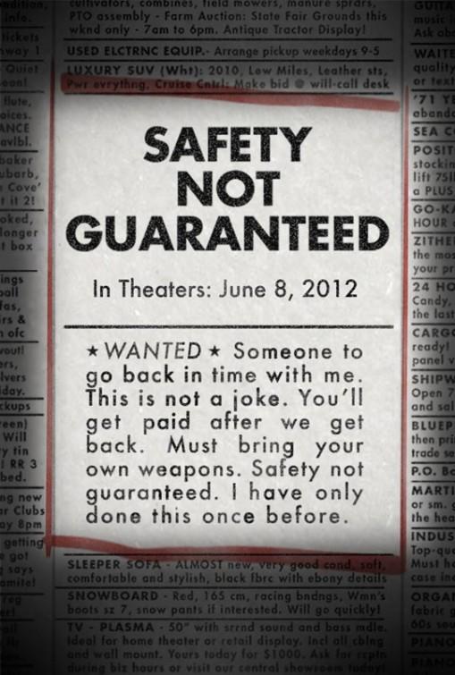 постер Безопасность не гарантируется,Safety Not Guaranteed