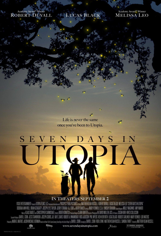 постер Семь дней в утопии,Seven Days in Utopia