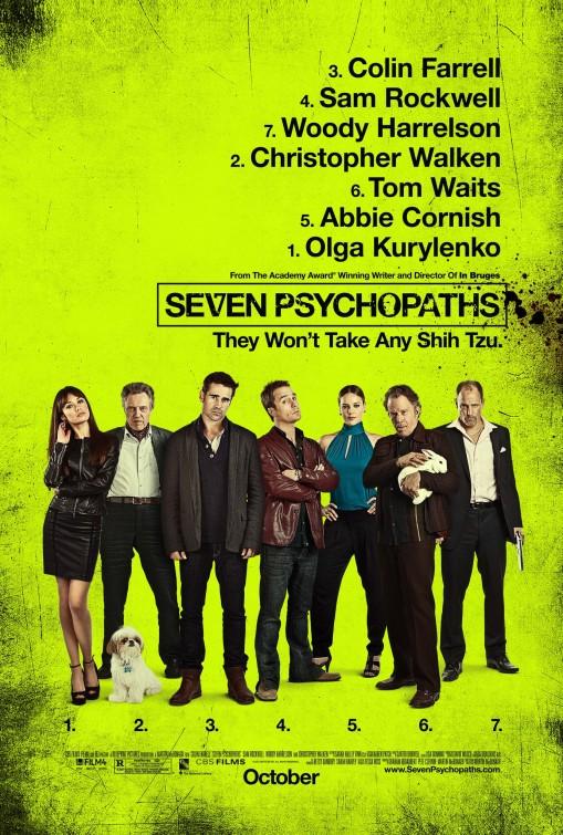 постер Семь психопатов,Seven Psychopaths