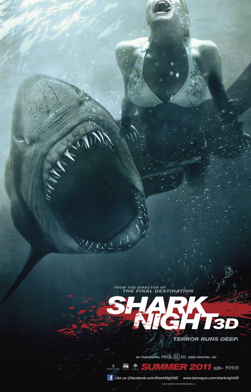 постер Челюсти 3D,Shark Night 3D