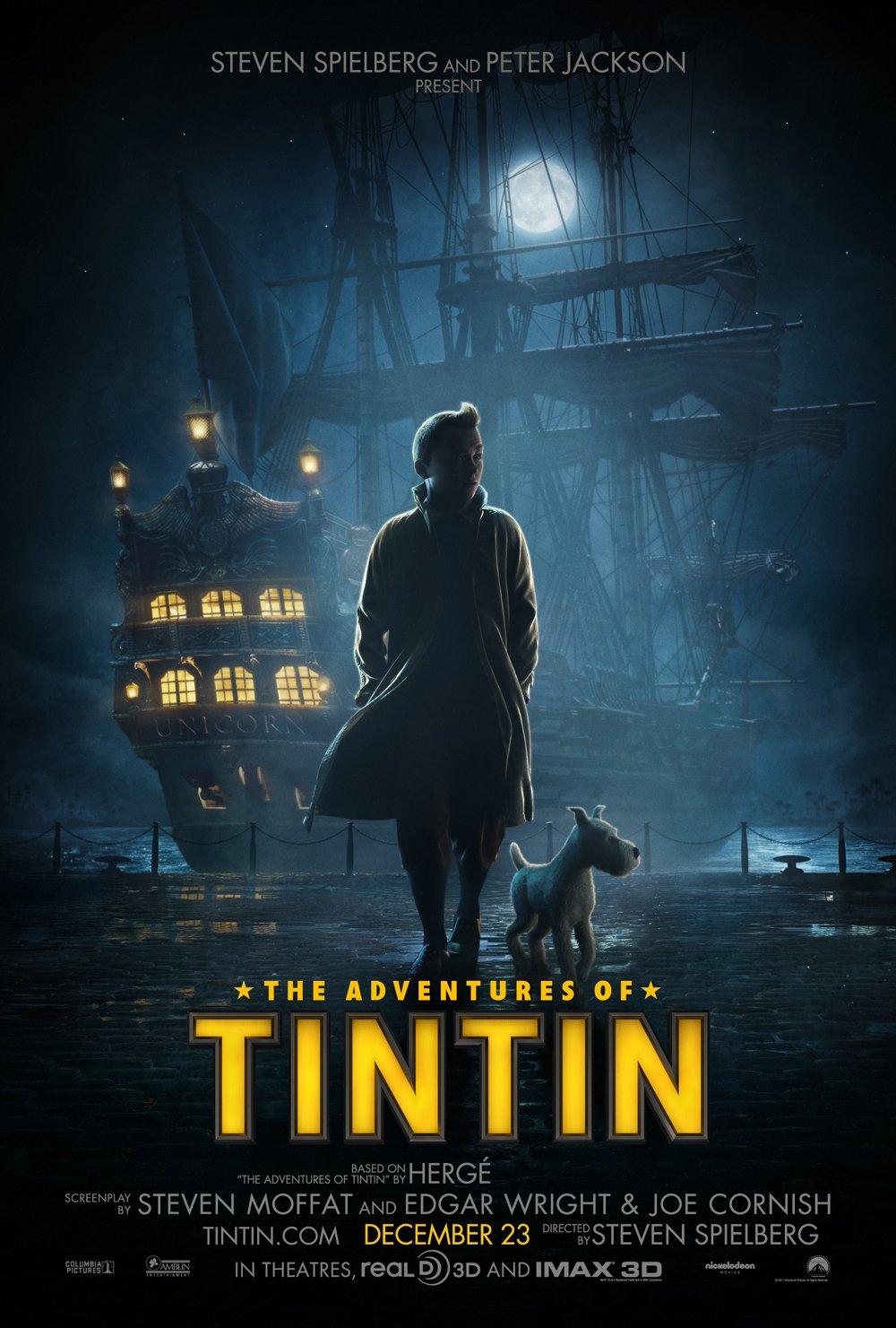 постер Приключения Тинтина: Тайна единорога 3D,The Adventures of Tintin