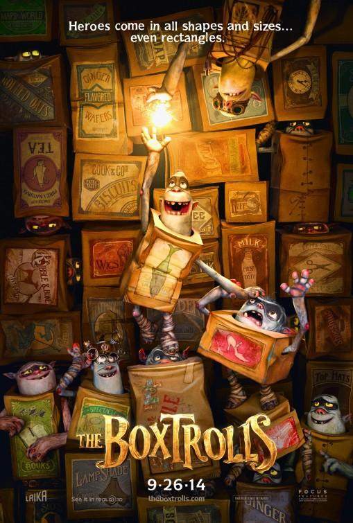 постер Семейка монстров,The Boxtrolls