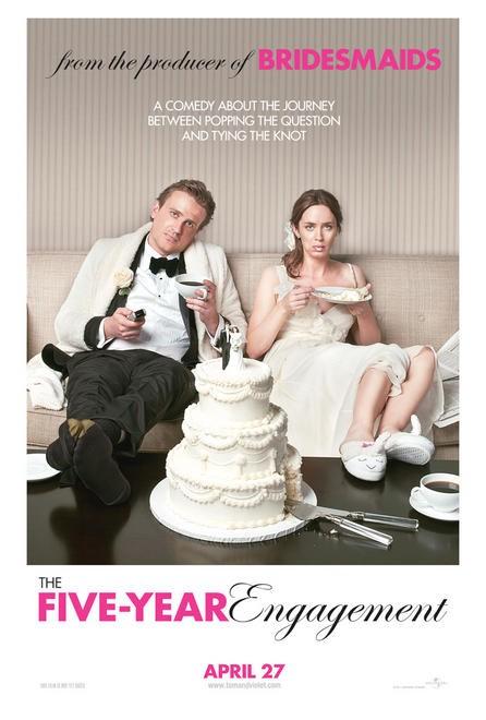 постер Немножко женаты/Пятилетняя помолвка,The Five-Year Engagement